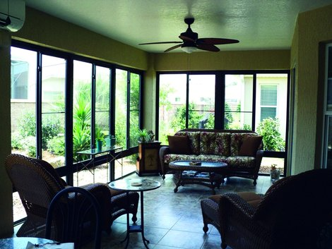 Florida Room Sunroom Additions Products White Aluminum Windows